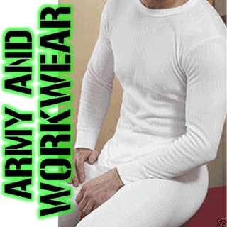 Mens Thermal Underwear Warm Wide Rib Full Sleeve top
