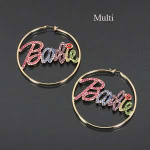 NEW NICKI MINAJ BARBIE HOOP EARRINGS in 3 COLORS