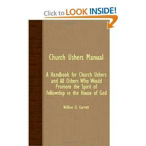 Church Ushers Manual   A Handbook For Church Ushers And