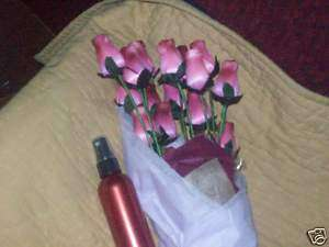 Home Decor/Scented Burgundy/Red Wood Roses~w/Rose Scent