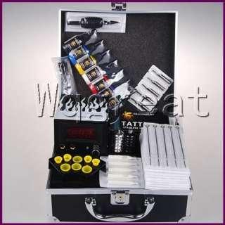 Complete Tattoo Kit 2 New Top Machine Guns Set Equipment Power Supply
