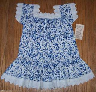 Victorian Lace Floral Cotton Knit Toddler Peasant Dress