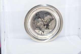 Norman Rockwell 1971 Franklin Mint Sterling Plate 925