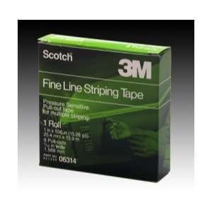 Fine Line Striping Tape, 8 Pull Outs, 1 x 550    MMM6314 Automotive