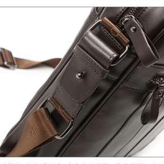 Genuine Leather Men Messenger Hand Bag Briefcase Laptop