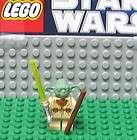 STAR WARS LEGO MINI FIGURE  MINIFIG    YODA  OLD SET    USED