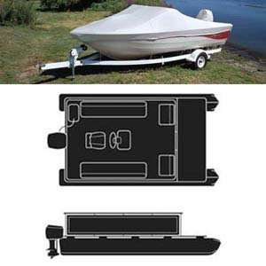 Pontoon Boat Cover Green/Gray / 17   20  Max Beam Width