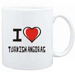 Mug White I love Turkish Angoras  Cats  Sports