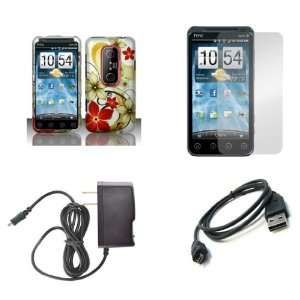 HTC EVO 3D (Sprint) Premium Combo Pack   Red and Gold