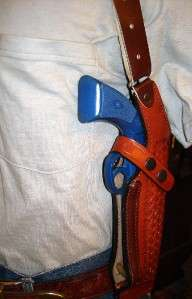 LEATHER SHOULDER HOLSTER 4 RUGER SR9 P89 P90 P95 P94