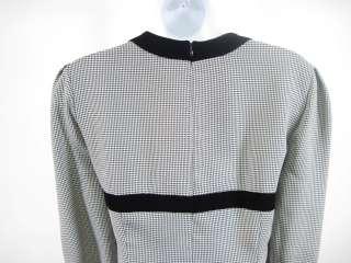 EDDY FORMATION Black White Houndstooth Dress Sz Small