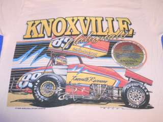 vintage KNOXVILLE NATIONALS 29TH IOWA SPRINT CAR RACING 1989 PINK t