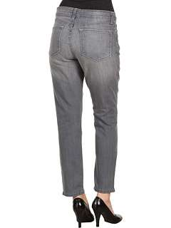 Not Your Daughters Jeans Loretta Ankle Zipper Denim in Silver Rush