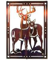 His Majesty by Kathryn Darling Laser Cut Metal Whitetail Deer Buck