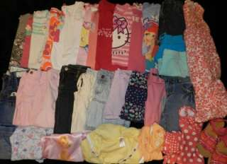 38 PIECE LOT GIRLS SPRING SUMMER CLOTHES SIZE 5/6 OUTFITS SETS SHIRTS