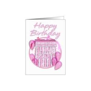 25th Birthday Gift Box   Pink   Happy Birthday Card: Toys