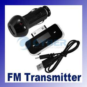 iPod/iPhone Touch Wireless FM Transmitter+Car Charger