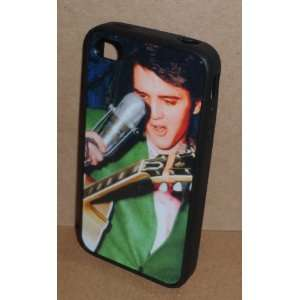 ELVIS PRESLEY Wearing Green Suit iPHONE 4 4S RUBBER PROTECTIVE CASE