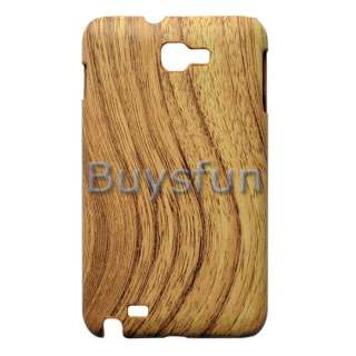 Wood Grain Pattern Hard Cover Case Skin for Samsung Galaxy Note i9220
