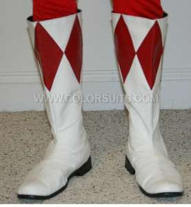 Mighty Morphin Power Rangers Red Power Ranger Boots   Custom Sizes