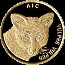 Belarus 50 Roubles Fox Gold 2002