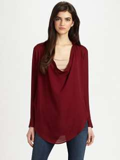 haute hippie silk cowlneck blouse $ 265 00 more colors