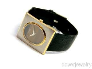 Vintage Piaget Swiss 18K Gold Two Toned Tiger Eye Watch NR