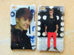 2PCS Justin Bieber hard Case Cover for iPod Touch 4th with free