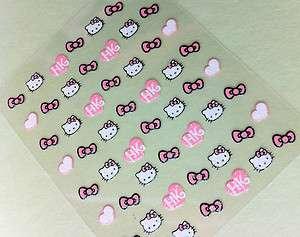 Nail Art 3D Sticker Glitter Decal Hello Kitty 54 pcs ON SALE