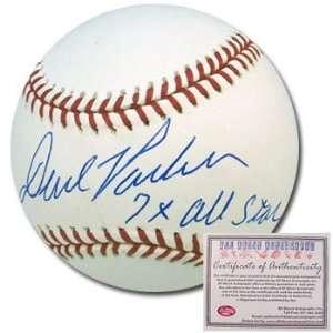 David ParkerAutographed/Hand Signed Rawlings MLB Baseball with 7x All