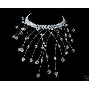 Bridal Wedding Prom Pageant Crystal Cascade Necklace