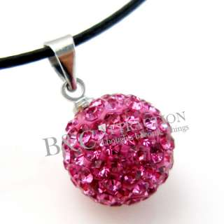 USA Stock Swarovski Disco ball Crystal Pave Bead Pendants fit Necklace