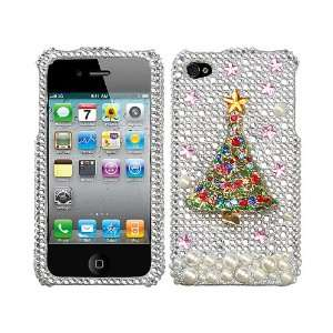 Silver Christmas Tree 3D Bling Rhinestone Diamond Crystal