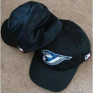 Med/Lg Toronto BLUE JAYS Home BLACK Hat Cap Mesh