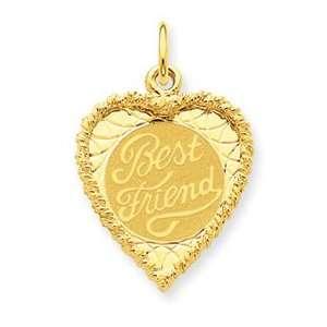 14k Gold Best Friend Charm Jewelry