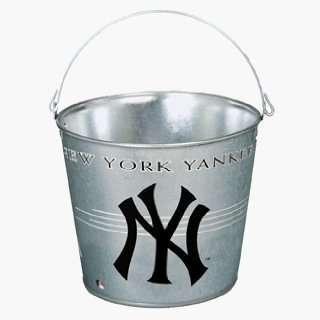 New York Yankees Galvanized Pail 5 Quart   MLB Ice Buckets