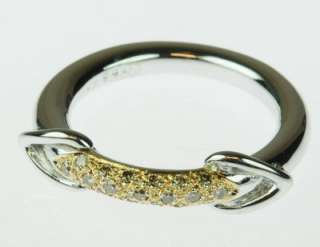 LADIES 18K WHITE GOLD DIAMOND TWO TONE ESTATE RING 82574