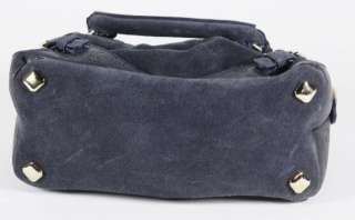 MCM Gray Suede Convertible Handbag/Shoulder Bag Purse Goldtone