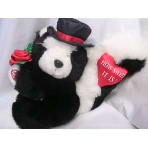 Valentines Day Gift ; Skunk Music Box Plush Toy ; How