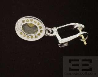 Judith Ripka Sterling Silver & 18K Gold Yellow Diamonique Dangle