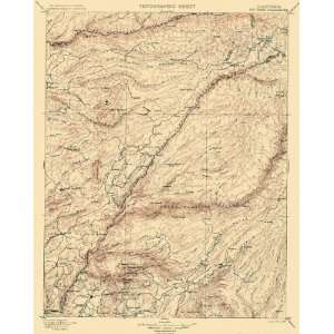 USGS TOPO MAP BIG TREES QUADRANGLE CALIFORNIA (CA) USGS