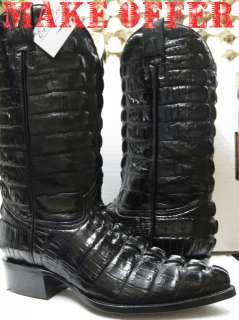 FULL CROCODILE ALLIGATOR TAIL COWBOY BOOTS BIKER HARLEY MOTORCYCLE