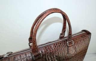 Genuine Cowhide Leather Briefcase Messenger Shoulder Bag Crocodile
