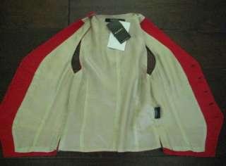 RUGBY RALPH LAUREN WOMEN 4 NWT $228 Vest Waistcoat Red Wool Black