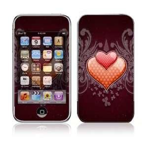 Apple iPod Touch (1st Gen) Vinyl Decal Sticker Skin   Double Hearts