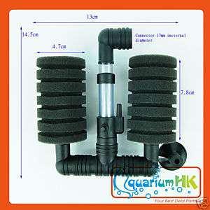 Sponge Bio Filter Fish Tank Aquarium Air Pump XY 2831