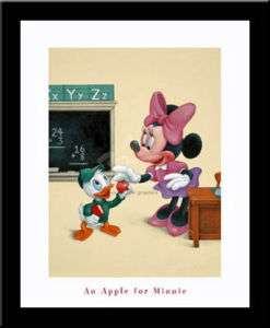 Minnie Mouse School Disney art FRAMED PRINT 20 X 24