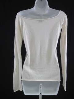 RALPH LAUREN Ivory Knit Boat Neck Sweater Top Size Med