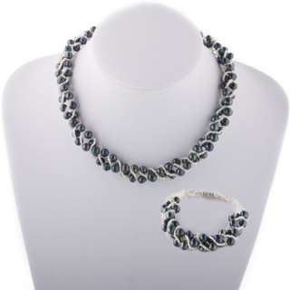 Twisted Freshwater Cultured Pearls Necklace & Bracelet