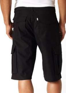 NEW Mens Levis Squadron Cargo Belted Shorts 34 Black